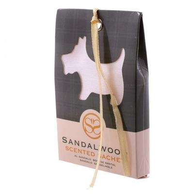 Sachets parfumés au bois de santal - Motif Chien écossais