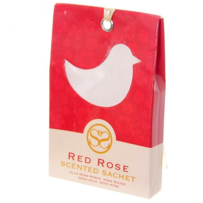 Sachets parfumés à la rose rouge - Motif oiseau