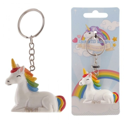 Porte-clés licorne Enchanted Rainbow