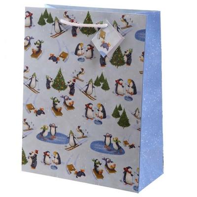 Sac cadeau Pingouin de Noël - Large