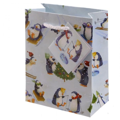 Sac cadeau Pingouin de Noël - Petit