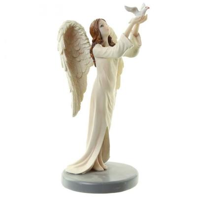 Figurine Ange Gardien Céleste par Natacha Faulkner - Colombe