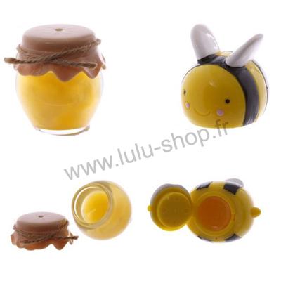 Brillant à Lèvres / Gloss Abeille et son pot de miel
