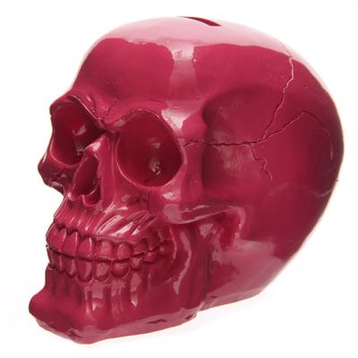 Tirelire crâne poli rose