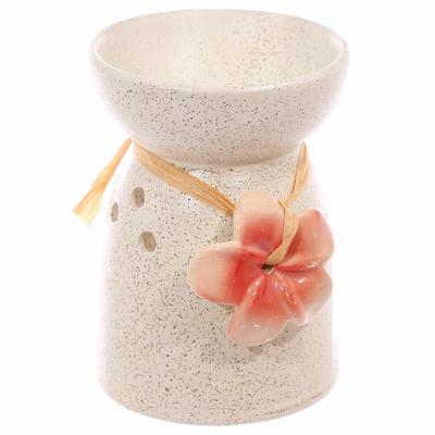 Bruleur à Huile Céramique fleur rose