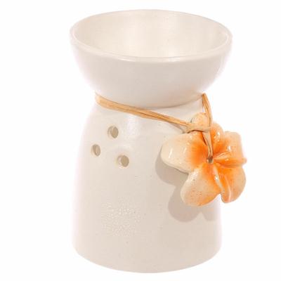 Bruleur à Huile Céramique fleur orange