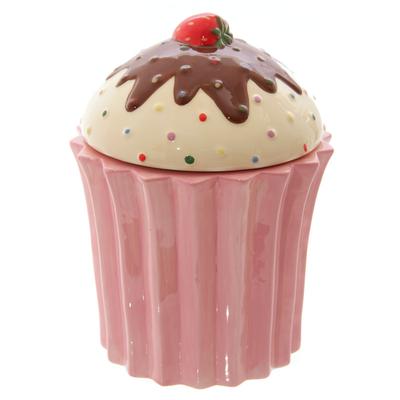 Pot en forme de cupcake rose