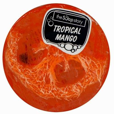 Savon loofah mangue tropicale