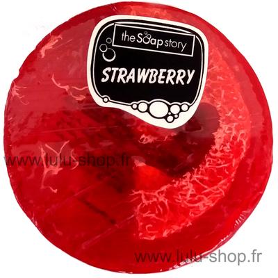 Savon loofah fraise