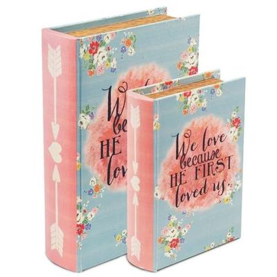 """Boîte cadeau en forme de livre """" We love"""""""