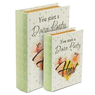 """Boîte cadeau en forme de livre """" Dance party """""""