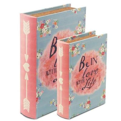 "Boîte cadeau en forme de livre "" Be in love """