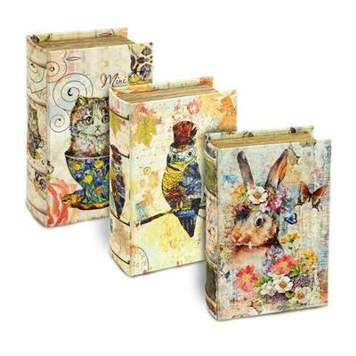 """Boîte cadeau en forme de livre """" Animaux"""""""