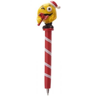 Stylo de Noël : Emoticone Sucre d'Orge