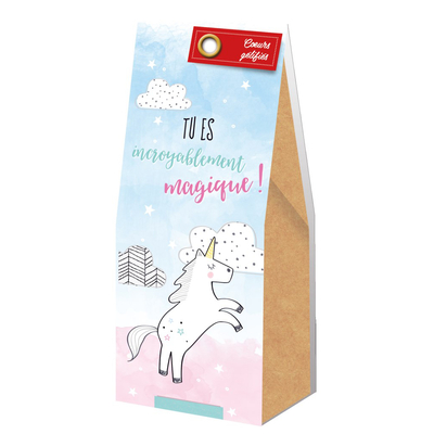 Ballotin Cadeau Bonbons Coeurs gélifiés : Tu es incroyablement magique!