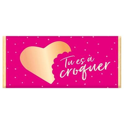 Tablette de chocolat, Message : Tu es à croquer