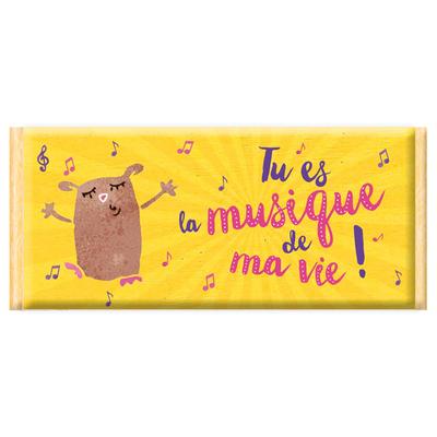 Tablette de chocolat, Message : Tu es la musique de ma vie