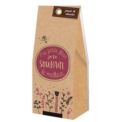 Ballotin Grains de Chocolat : Ma petite fleur, je te souhaite le meilleur