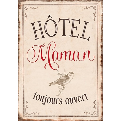 Carte Postale Vintage : Hôtel Maman toujours ouvert