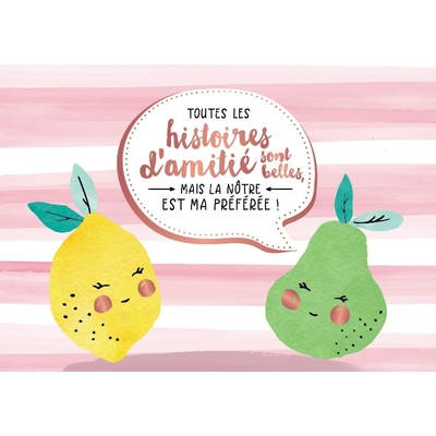 Carte postale Double : Toutes les histoires d'amitié sont belles, mais la nôtre est ma préférée !