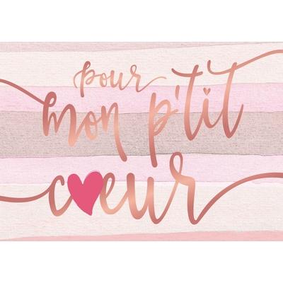 Carte postale Double : Pour mon p'tit coeur