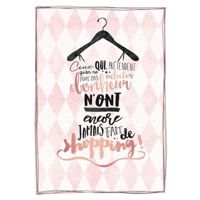 Carte postale Double : Ceux qui prétendent qu'on ne peut pas acheter le bonheur n'ont encore jamais fait de shopping !