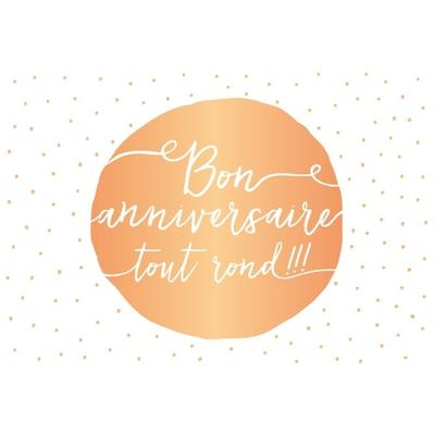Carte postale Double : Bon anniversaire tout rond