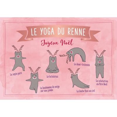 Carte postale Noël... Le Yoga du Renne