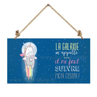 Pancarte : La galaxie m'appelle... il me faut suivre mon destin !