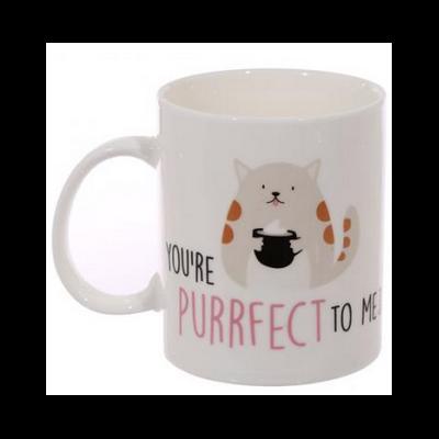 """Mug en porcelaine """"Chat"""" : tu es parfait pour moi"""