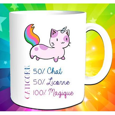 "Mug ""Caticorn"" : 50% Chat 50% Licorne = 100% Magique"