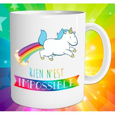 "Mug ""Licorne"" : Rien n'est impossible"