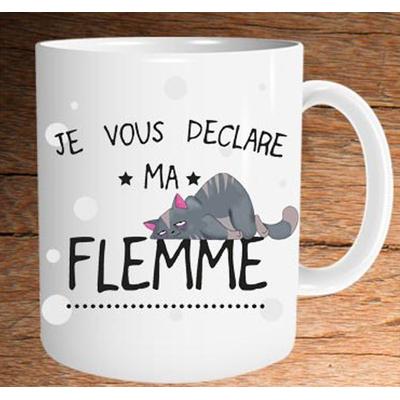 """Mug """"Art de Vivre"""" : Je vous déclare ma flemme"""