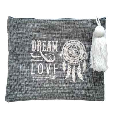 "Pochette en ""Toile de Jute"" : Dream & Love"