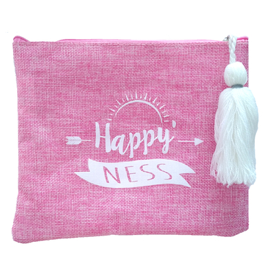 "Pochette en ""Toile de Jute"" : Happy Ness"