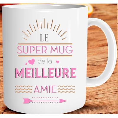 "Mug ""Family & Friend"" : Le super mug de la meilleure amie"