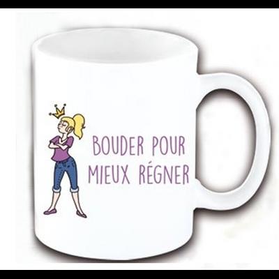 """Mug """"Texte"""" : Bouder pour mieux régner"""
