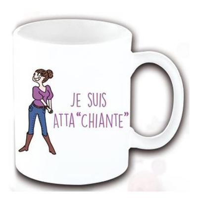 "Mug ""Texte"" : Je suis atta""chiante"""