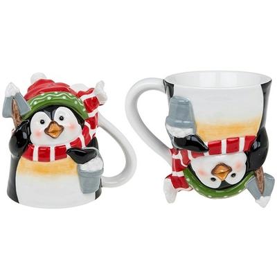 "Mug ""3D"" Joyeux Pengouin de Noël"