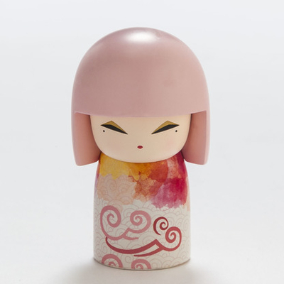 "Poupée japonaise kokeshi Kimmidoll Emina ""Facétie"""