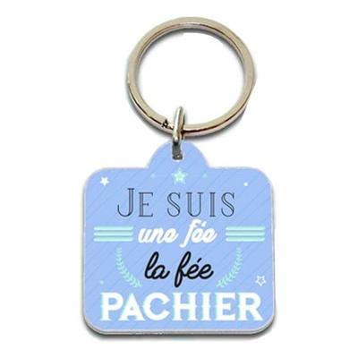 """Porte clés humoristique """"Je suis une fée, la fée pachier"""""""