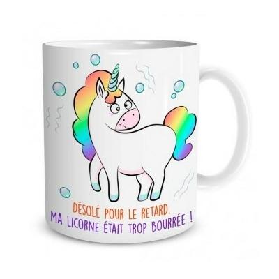 """Mug """"Licorne"""" : Désolé pour le retard..."""