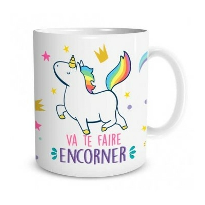 "Mug ""Licorne"" : Va te faire encorner"