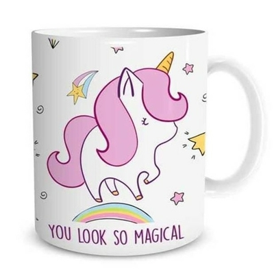 "Mug ""Licorne"" : You look so magical"