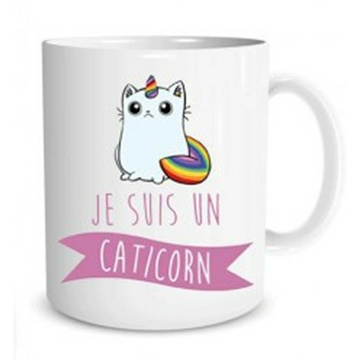 "Mug ""Licorne"" : Je suis un caticorn"