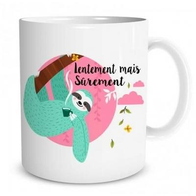 """Mug """"Paresseux"""" : Lentement mais sûrement"""