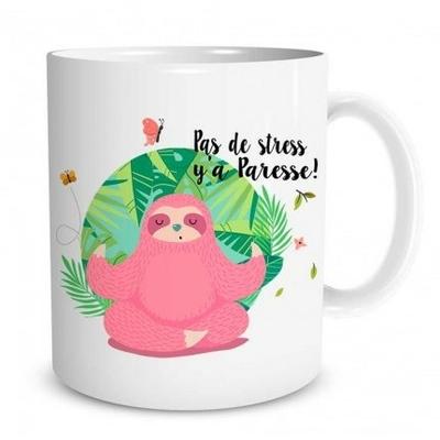 "Mug ""Paresseux"" : Pas de stress y'a paresse !"