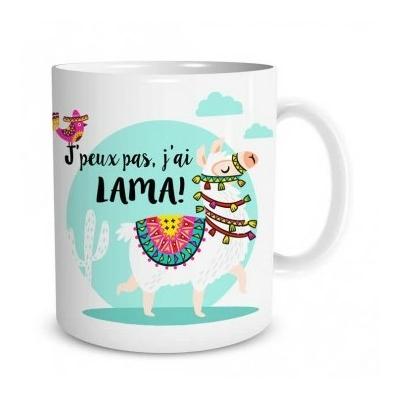 "Mug ""Lama"" : J'peux pas, j'ai lama !"