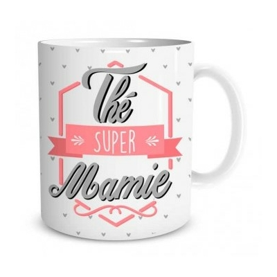 "Mug ""Family & Friend"" : Thé super mamie"