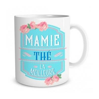 "Mug ""Family & Friend"" : Mamie thé la meilleure"